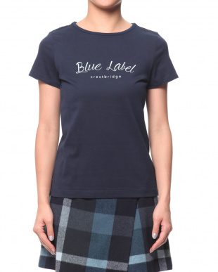 ネイビーA ソフトコットン天竺 ブランドロゴTシャツを見る