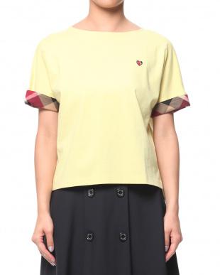 イエロー コットンバスクジャージーボリュームTシャツを見る