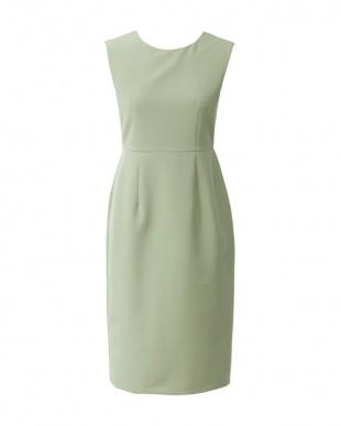 グリーン ストレッチスリムシフトドレスを見る