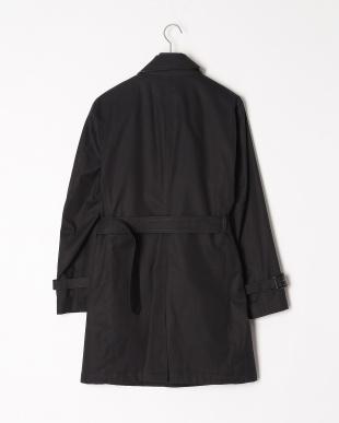 ブラック ベルテッドシングルステンカラーコートを見る