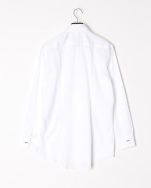 ホワイト シャドーストライプボタンダウンシャツを見る