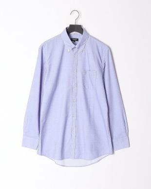 ライトブルー 【イージーケア】ジャージーソリッドボタンダウンシャツを見る