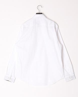 オフホワイト ストレッチピンオックスフォードボタンダウンシャツを見る