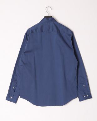 ブルー ストレッチピンオックスフォードボタンダウンシャツを見る