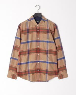 ベージュ ヴィンテージクレストブリッジチェックシャツを見る