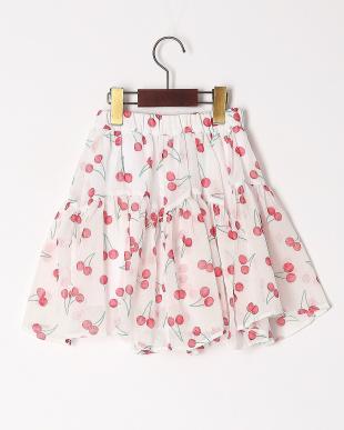 レッド シフォンティアードスカートを見る