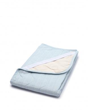 ブルー シャリっと涼感 綿しじら敷きパッドシーツ シングルを見る