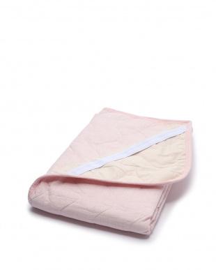 ピンク シャリっと涼感 綿しじら敷きパッドシーツ シングルを見る