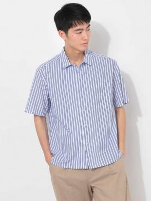 ホワイト トリプルストライプワイドシャツ[WEB限定サイズ] a.v.v HOMMEを見る