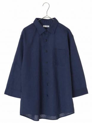 ブルー メンアサシチブソデシャツ[WEB限定サイズ] a.v.v HOMMEを見る