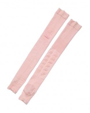 ピンク かかとツルツルシリコンソックスサポーター2足組を見る