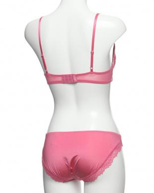 ローズピンク 3colorsインケミカルレース ブラ+ショーツを見る