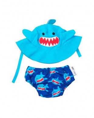 サメ ベビースイムパンツ&サンハットセットを見る