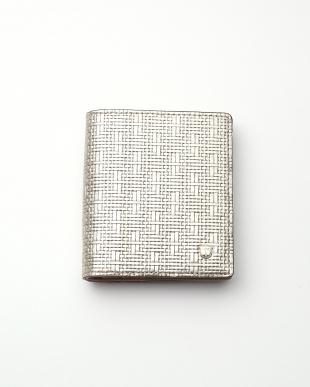 シャンパン メッシュ柄型押し・二つ折りミニ財布 RITMO リトモを見る