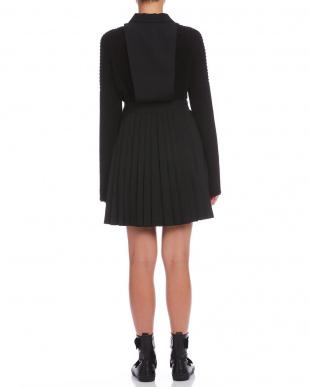ブラック ダブルボタン プリーツ ジャンパースカートを見る