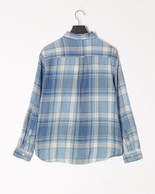 デニム淡加工色 インディゴチェックシャツを見る