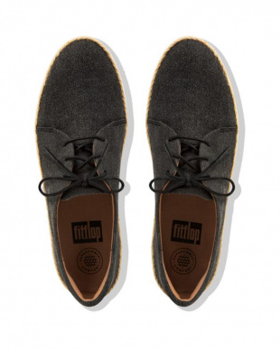 Black Shimmer-denim SUPERDERBY LACE UP SHOES - SHIMMER-DENIMを見る