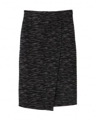 ブラック×グレー1 ◆ゼブラジャカードタイトスカート BOSCHを見る