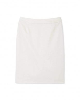 グレー [ウォッシャブル]麻混ミラノリブセットアップスカート BOSCHを見る