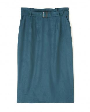 グリーン フェイクスエードタイトスカート BOSCHを見る