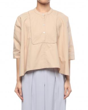 21/茶系B(ベージュ) 綿100% Aライン ドレスシャツを見る