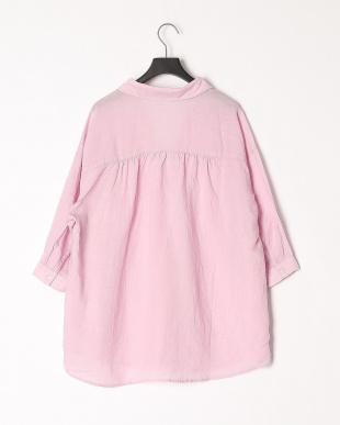 パステルライラック テンセル混リネンスキッパーシャツを見る