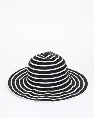 ブラック・ベージュ エレガントコンパクト帽子2色組を見る