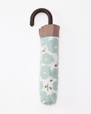 花柄グリーン 晴雨兼用UVカットコンパクト傘を見る