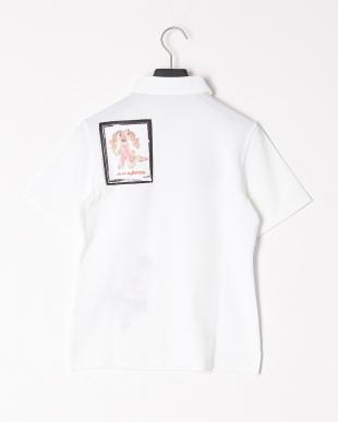 ホワイト L半袖ポロシャツを見る