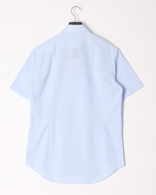 ブルー ピケ 半袖シャツを見る
