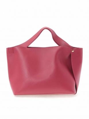 ピンク フェイクレザーデザイントートバッグ OFUONを見る