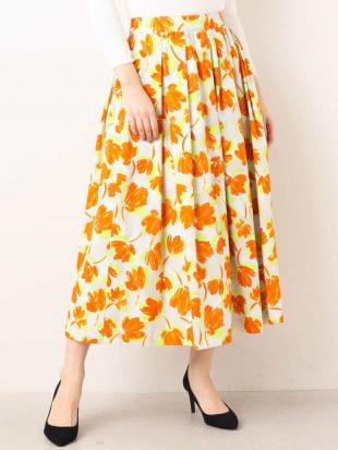 オレンジ 【洗える】カットジャガードプリントスカート MK MICHEL KLEINを見る