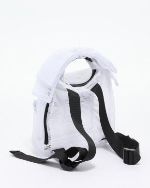 WHITE リボンメッシュバッグパックを見る