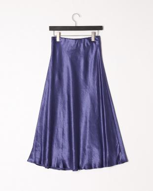 ブルー サテンマーメイドスカートを見る