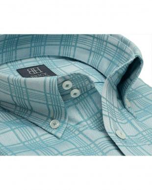 グリーン系 形態安定 ノーアイロン 長袖ワイシャツ ドゥエボットーニ ボタンダウン グリーンチェックを見る