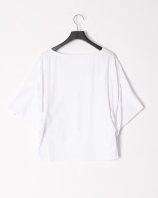 ホワイト 変形ボリュウム袖カットソーTシャツを見る