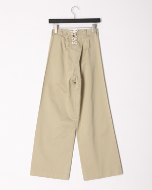 beige Y&O:YOUNG NAVAL TROUSERを見る