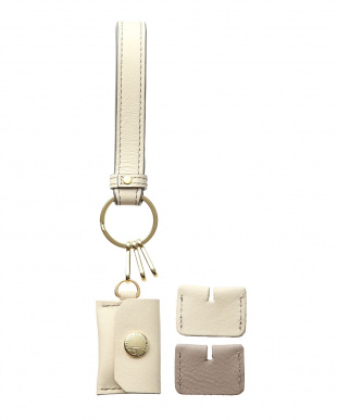 アイボリー/グレーベージュ 「なくさないキーリング」 バッグも一緒に守る、とても安全なキーリング。を見る