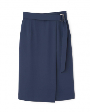 ブルー [ウォッシャブル]Wサテンラップスカート PINKY & DIANNEを見る