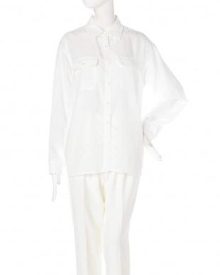 ホワイト ナチュラルタッチソフトシャツ PINKY & DIANNEを見る