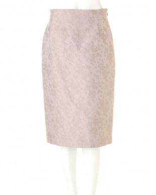 ベージュ1 フラワージャガードタイトスカート PINKY & DIANNEを見る