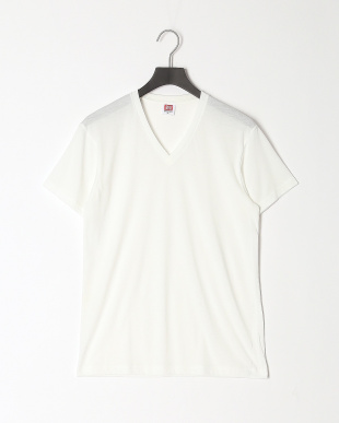 ホワイト 天竺VネックTシャツ 吸水速乾 ソフト 2点セットを見る