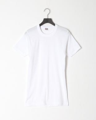 ホワイト 丸首半袖シャツ 綿100% 3点セットを見る