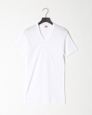ホワイト U首半袖シャツ 綿100% 3点セットを見る