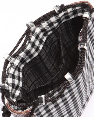 黒チェック/籠:茶 信玄袋を見る