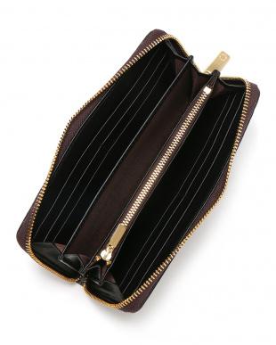 ブラウン クロコダイル ラウンドジップ 長財布を見る