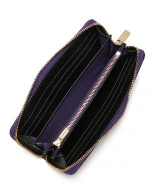 パープル クロコダイル ラウンドジップ 長財布を見る