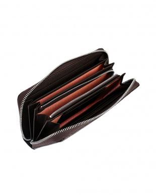 ブラウン クロコダイルレザー ラウンドジップ 長財布を見る