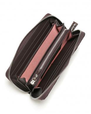 ダークブラウン クロコダイル革 ラウンドジップ 長財布を見る
