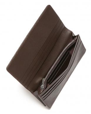 ダークブラウン クロコダイル革 フラップ 長財布を見る